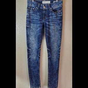 BKE Payton Acid Wash Skinny Denim Jeans 27